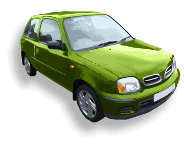 Green micra scrap car disposal