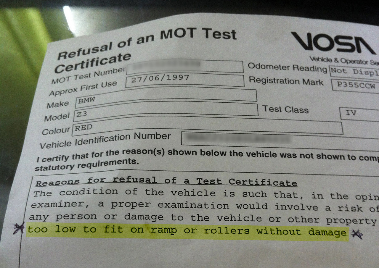 MOT Failure?
